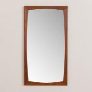 2161 Danish mid century modern teak mirror frame by Kai Kristinsen for Aksel Kjersgaard Odder No. 103-1