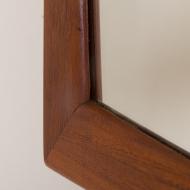 2161 Danish mid century modern teak mirror frame by Kai Kristinsen for Aksel Kjersgaard Odder No. 103-4