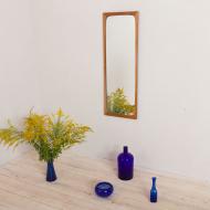 2162 Big Danish mid century light teak mirror frame by Aarhus Glasimport-1