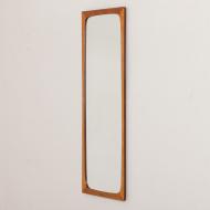 2162 Big Danish mid century light teak mirror frame by Aarhus Glasimport-3
