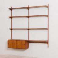 2164 Kai Kristiansen wall unit with small desk and cabinet in teak-4
