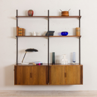 2168 Kai Kristiansen Rosewood wall unit with 2 cabinets with tambour doors-1