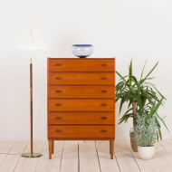 2173 Danish teak chest of drawers with tilted handles-1