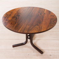 2183 Scandinavian rosewood round side table-5