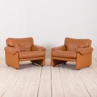 2188 air of Tobia Scarpa Cornado leather lounge chairs-3
