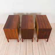 2197 Danish three pieces credenza in rosewood with brass handles-7