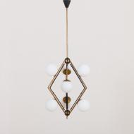 2206 Original Stilnovo lamp diamond shaped pendant chandelier-1