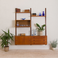 2216 norwegian teak wall unit with sideboard and bar cabinet-1