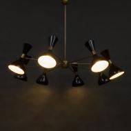 8 arms  Italian black diabolo chandelier-12