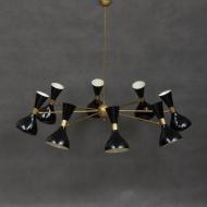 8 arms  Italian black diabolo chandelier-2