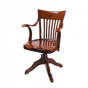 Amerykański fotel biurowy z mechanizmem sprężynowym_Antyki Sosenko_Kraków_1-780x780
