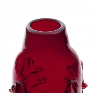 Autorski szklany wazon w kolorze rubinowym_Antyki Sosenko_2-780x780