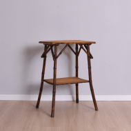 bambusowy stolik dwa blaty nieco podniszczony (1)