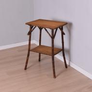 bambusowy stolik dwa blaty nieco podniszczony (3)