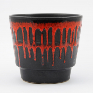 black red fat lava plant pot_01