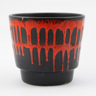 black red fat lava plant pot_02