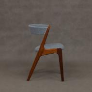 Blue Fire chair by Kai Kristiansen for Schou Andersen, 60s-3