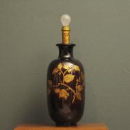 bordowa duza porcelanowa lampa c0