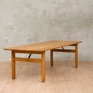 Borge Mogensen extra long solid oak coffee table-1