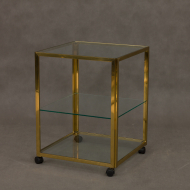 Brass and glass drinks trolley-1