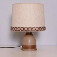 ceramiczna lampka lampa stołowa beżowa (1)