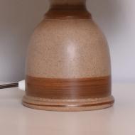 ceramiczna lampka lampa stołowa beżowa (2)