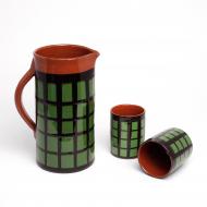 ceramiczny zestaw do napojów krata (1)