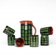 ceramiczny zestaw do napojów krata (2)