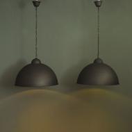 czarne dwie lampy wiszace industrialne  dd