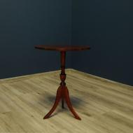 czerwony stolik kawowy