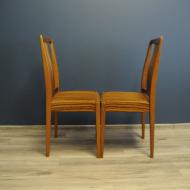 cztery rude krzesla tekowe  e