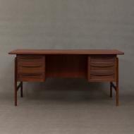 Danish mid-century mahogany desk-1