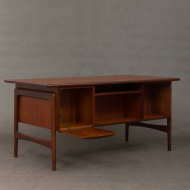 Danish mid-century mahogany desk-18