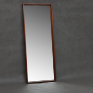 Danish mid-century mirror with brass inlays-2