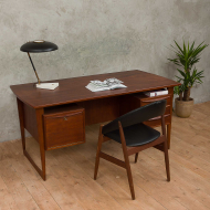 Danish mid-century modern  two sided desk-1