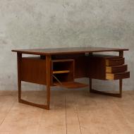 Danish mid-century modern  two sided desk-5