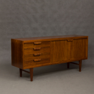 Danish rosewood sideboard with sculptural handles-3