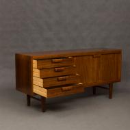 Danish rosewood sideboard with sculptural handles-4