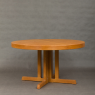 Danish round oak table-3