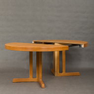 Danish round oak table-8