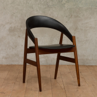Danish rounded desk chair in teak-1