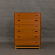 Danish teak dresser with oak base-1