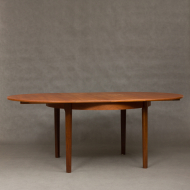 Danish teak extension table with hidden leaves-3