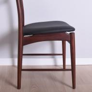 delikatne krzesłą tekowe czarny skaj (7)