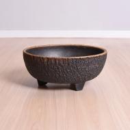Donica ceramiczna, lata 60. na trzech nóżkach (1)