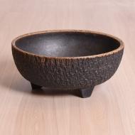 Donica ceramiczna, lata 60. na trzech nóżkach (2)