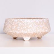 Donica ceramiczna, West Germany, Niemcy, lata 60. nakrapiana (1)