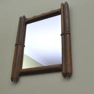 drewniane lustro maleko (3)