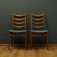 dwa krzesla dunskie tekowe