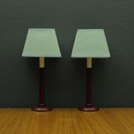 dwie lampy nocne drewniany stelaz jm0